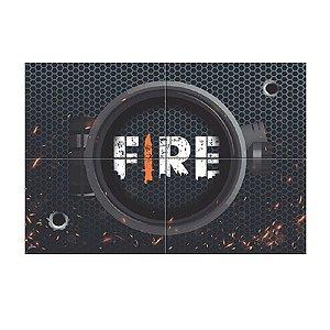 PAINEL 4 LÂMINAS  FESTA FREE FIRE - 01 UNIDADE - JUNCO