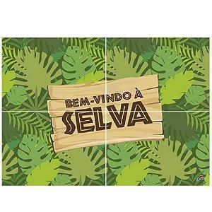 PAINEL 4 LÂMINAS FESTA BEM VINDO À SELVA - 01 UNIDADE - JUNCO