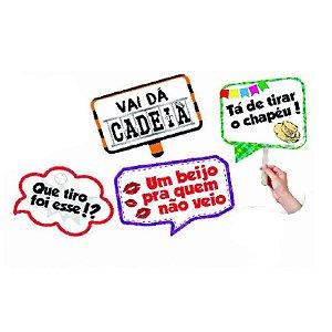 PLACA JUNINA COM HASTE DE PEGA - SORTIDAS - COM 04 UNIDADES - CÓDIGO 7019/01 -KAIXOTE