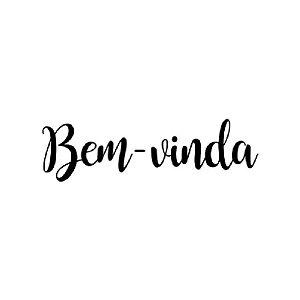 """TRANSFER PARA BALÃO  BEM VINDA PRETO P - 12"""" A 18"""" - CROMUS BALLOONS"""