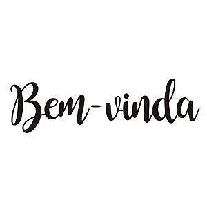 """TRANSFER PARA BALÃO PRETO G - BEM VINDA - 20"""" A 36"""" - CROMUS BALLOONS"""