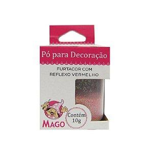 PÓ PARA DECORAÇÃO FURTACOR COM REFLEXO VERMELHO 10G - 01 UNIDADE -MAGO
