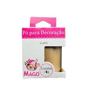 PÓ PARA DECORAÇÃO OURO 8G - 01 UNIDADE -  MAGO