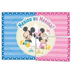 PAINEL DE MONTAR DECORATIVO BABY DISNEY CHÁ REVELAÇÃO - 01 PAINEL - 1,26M X 88CM - REGINA FESTAS