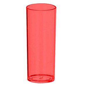 COPO LONG DRINK VERMELHO TRANSLUCIDO - 360 ML - 01 UNIDADE - DESCARFEST