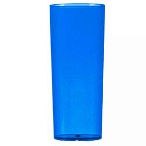 COPO LONG DRINK AZUL  TRANSLUCIDO - 360 ML - 01 UNIDADE - DESCARFEST