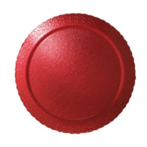 BASE PARA BOLO CAKE BOARD REDONDO VERMELHO 32 CM - ULTRAFEST