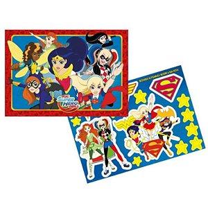 KIT PAINEL DECORATIVO FESTA SUPER HERO GIRL - 01 PAINEL 64 X 45CM +01 FOLHA COM PERSONAGENS DESTACÁVEIS - REGINA FESTAS