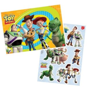 KIT DECORATIVO CARTONADO FESTA TOY STORY - 01 PAINEL 64 X 45CM + 01 FOLHA COM PERSONAGENS DECORATIVOS - REGINA FESTAS