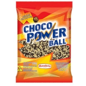 CHOCO POWER BALL CONFEITO CEREAL MICRO AO LEITE  -  500G - MAVALÉRIO