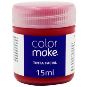 TINTA FACIAL 15ML VERMELHA - COLOR MAKE