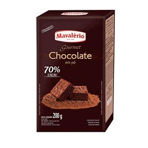 CHOCOLATE EM PÓ GOURMET 70% CACAU 200G MAVALÉRIO