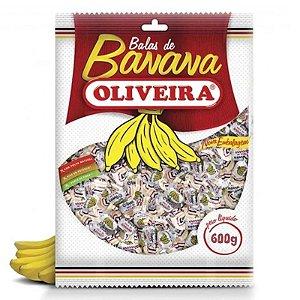 BALA DE BANANA PACOTE 600G - OLIVEIRA