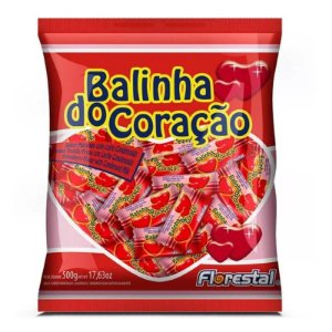 BALINHA CORACAO SABOR MORANGO 700G - FLORESTAL