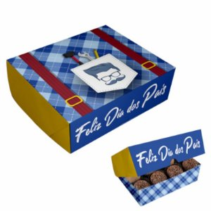 "CAIXA PARA DOCES "" FELIZ DIA DOS PAIS "" - 06 UNIDADES - DUSTER FESTAS"