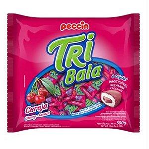 BALA RECHEADA TRI BALA SABOR CEREJA 500GR - PECCIN