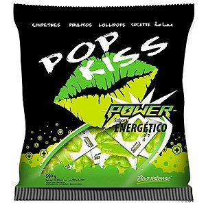 PIRULITO POP KISS POWER COM 50 UNIDADES - SABOR ENERGÉTICO  - BOAVISTENSE