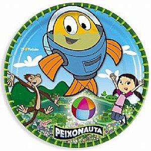PRATO DESCARTÁVEL FESTA  PEIXONAUTA - 08 UNIDADES - REGINA FESTAS