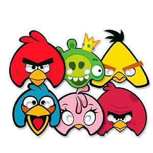 MÁSCARA PERSONAGENS FESTA ANGRY BIRDS - 06 UNIDADES - REGINA FESTAS