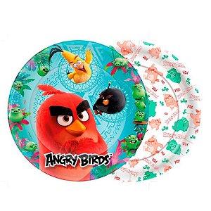 PRATO DESCARTÁVEL ANGRY BIRDS O FILME 18CM 08 UNIDADES - REGINA FESTAS