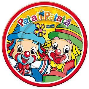 PRATO DESCARTÁVEL PATATI PATATÁ BABY 08 UNIDADES - FESTCOLOR