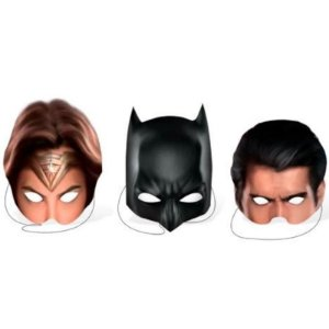 LEMBRANCINHA MÁSCARAS FESTA BATMAN VS SUPERMAN - CONTÉM 08 UNIDADES - FESTCOLOR