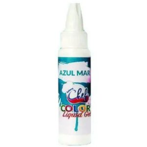CORANTE COLOR LIQUIDGEL - AZUL MAR - 25G - ICEBERG CHEF