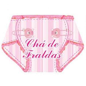 CONVITE CHÁ DE FRALDAS FEMININO - 10 UNIDADES - MR FESTAS