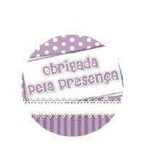 ADESIVO OBRIGADA PELA PRESENÇA LILÁS - 10 UNIDADES - KID ART