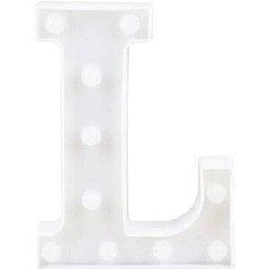 LETRA LED DECORAÇÃO FESTA - L - 01 UNIDADE - CROMUS