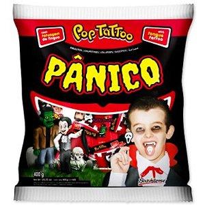 PIRULITO POP TATTOO PANICO - HALLOWEEN -  400GR - COM 50 UNIDADES - BOAVISTENSE