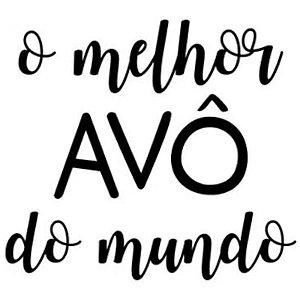 TRANSFER PARA BALÃO -  O MELHOR AVÔ DO MUNDO -  PRETO G  - COM 01 UNIDADE - CROMUS BALLONS