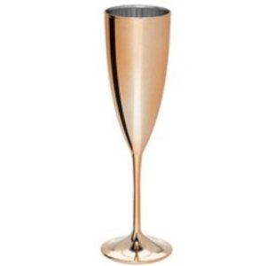 TAÇA DE CHAMPAGNE 180 ML - METALIZADA ROSE GOLD - 01 UNIDADE - LSCTOYS