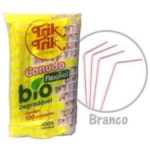 CANUDO BIODEGRADÁVEL FLEXÍVEL - COM  100 UNIDADES - TRIK TRIK