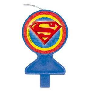 VELA DE ANIVERSÁRIO FESTA SUPERMAN GEEK - 01 UNIDADE FESTCOLOR
