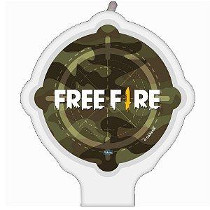 VELA DE ANIVERSÁRIO  PLANA FESTA FREE FIRE - 01 UNIDADE - FESTCOLOR