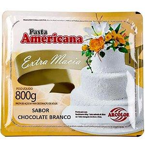 PASTA AMERICANA SABOR CHOCOLATE BRANCO - 800G - ARCOLOR