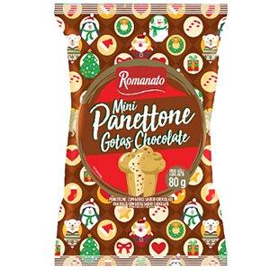 MINI PANETTONE 80G GOTAS CHOCOLATE - ROMANATO