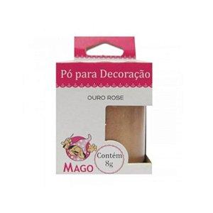 PÓ PARA  DECORAÇÃO OURO ROSE - 8G - 01 UNIDADE - MAGO