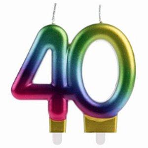 VELA 40 ANOS COLORIDA - 01 UNIDADE - SILVER FESTAS