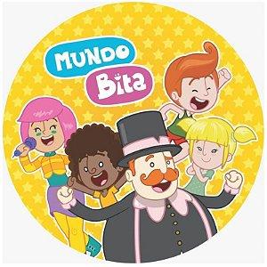 ENFEITE  REDONDO  IMPRESSO FESTA MUNDO BITA  -  01 UNIDADE - PIFFER