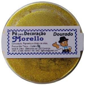 PÓ PARA DECORAÇÃO - BRILHO DOURADO - 5G - MORELLO