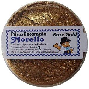 PÓ PARA DECORAÇÃO - BRILHO ROSE GOLD - 7G - MORELLO