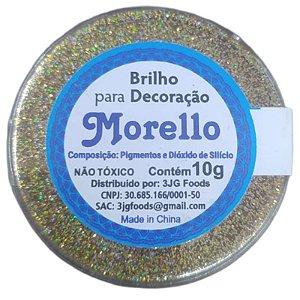 BRILHO  PARA DECORAÇÃO  HOLOGRAFICO DOURADO - 10G - MORELLO