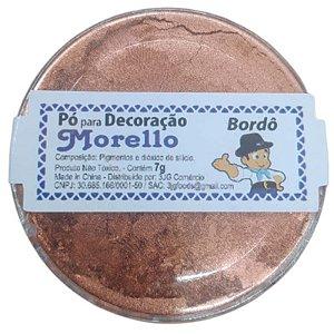 PÓ PARA DECORAÇÃO BORDÔ - 7G - MORELLO