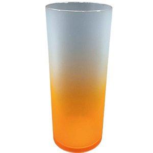 COPO LONG DRINK DEGRADÊ LARANJA FLUORESCENTE - 01 UNIDADE - MAR PLÁSTICOS