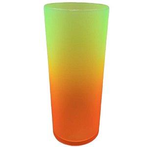 COPO LONG DRINK DEGRADÊ LARANJA/AMARELO NEON - 01 UNIDADE - MAR PLÁSTICOS