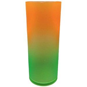 COPO LONG DRINK DEGRADÊ VERDE/LARANJA NEON - 01 UNIDADE - MAR PLÁSTICOS