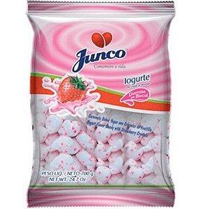 BALA COCO COM IOGURTE E CRISTAIS DE MORANGO - 700G - JUNCO