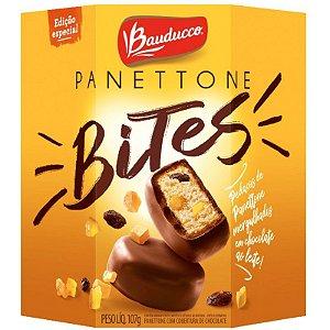 PANETTONE BAUDUCCO BITES COM COBERTURA DE CHOCOLATE  107G - BAUDUCCO